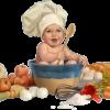 Na cozinha de Pat Feldman falando sobre a alimentação das crianças